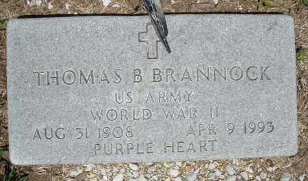 BRANNOCK, THOMAS B. - Warren County, Ohio | THOMAS B. BRANNOCK - Ohio Gravestone Photos