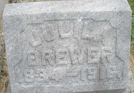 BREWER, JULIA - Warren County, Ohio | JULIA BREWER - Ohio Gravestone Photos