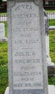BREWER, JULIA - Warren County, Ohio | JULIA BREWER - Ohio Gravestone Photos