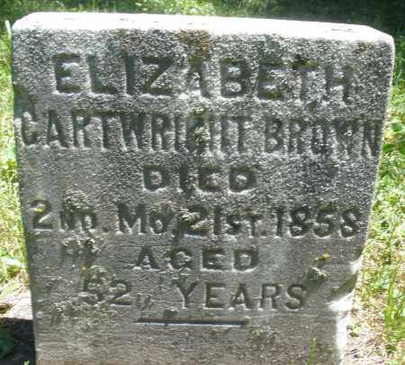 CARTWRIGHT BROWN, ELIZABETH - Warren County, Ohio | ELIZABETH CARTWRIGHT BROWN - Ohio Gravestone Photos