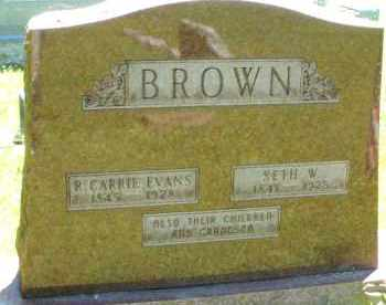 BROWN, R. CARRIE - Warren County, Ohio | R. CARRIE BROWN - Ohio Gravestone Photos