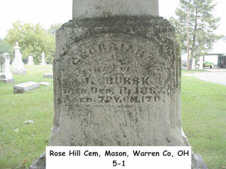 "PATTERSON BURSK, GEORGIANA ""ANN"" - Warren County, Ohio 