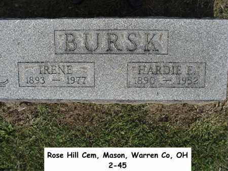 BURSK, HARDIE - Warren County, Ohio | HARDIE BURSK - Ohio Gravestone Photos