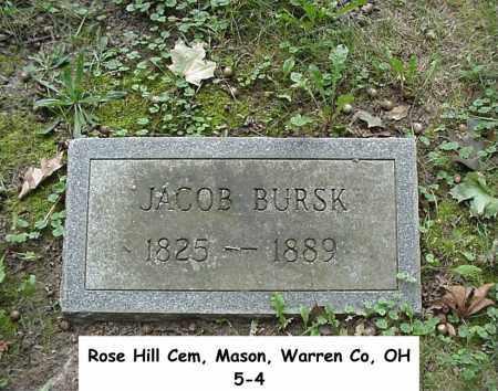 BURSK, JACOB - Warren County, Ohio | JACOB BURSK - Ohio Gravestone Photos