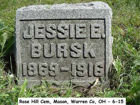 BURSK, JESSIE - Warren County, Ohio | JESSIE BURSK - Ohio Gravestone Photos