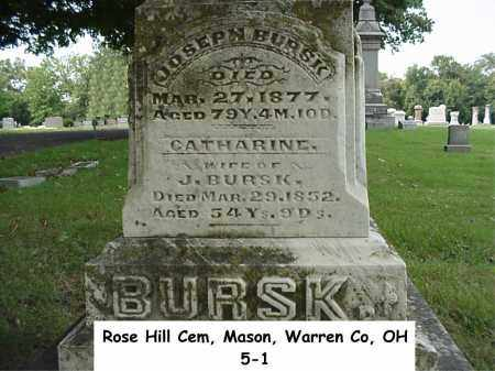 BURSK, CATHERINE - Warren County, Ohio | CATHERINE BURSK - Ohio Gravestone Photos