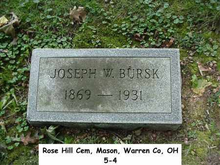 BURSK, JOSEPH - Warren County, Ohio | JOSEPH BURSK - Ohio Gravestone Photos