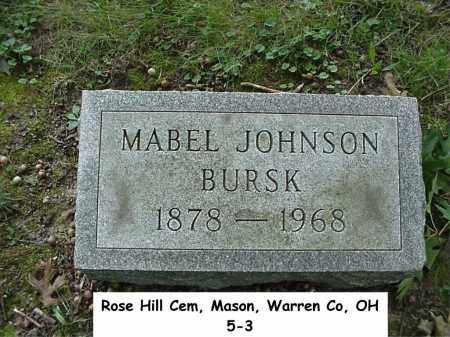 JOHNSON BURSK, MABEL - Warren County, Ohio | MABEL JOHNSON BURSK - Ohio Gravestone Photos