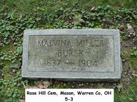 BURSK, MALVINA - Warren County, Ohio | MALVINA BURSK - Ohio Gravestone Photos