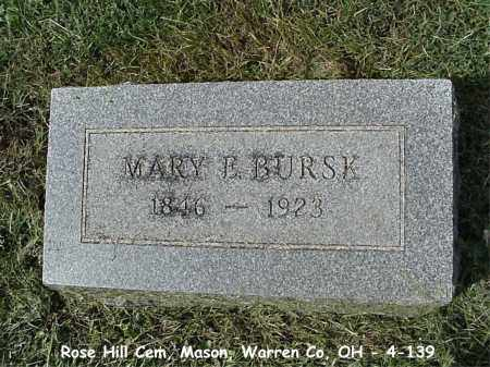NIXON BURSK, MARY E. - Warren County, Ohio | MARY E. NIXON BURSK - Ohio Gravestone Photos
