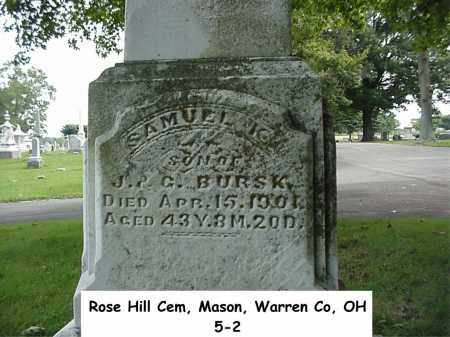 BURSK, SAMUEL K. - Warren County, Ohio | SAMUEL K. BURSK - Ohio Gravestone Photos