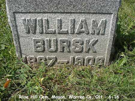BURSK, WILLIAM - Warren County, Ohio | WILLIAM BURSK - Ohio Gravestone Photos