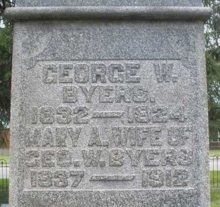 BYERS, GEORGE W. - Warren County, Ohio | GEORGE W. BYERS - Ohio Gravestone Photos