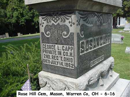 CAPP, GEORGE L. - Warren County, Ohio | GEORGE L. CAPP - Ohio Gravestone Photos