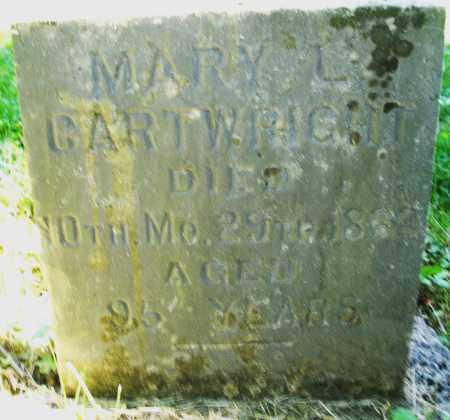 CARTWRIGHT, MARY L. - Warren County, Ohio | MARY L. CARTWRIGHT - Ohio Gravestone Photos