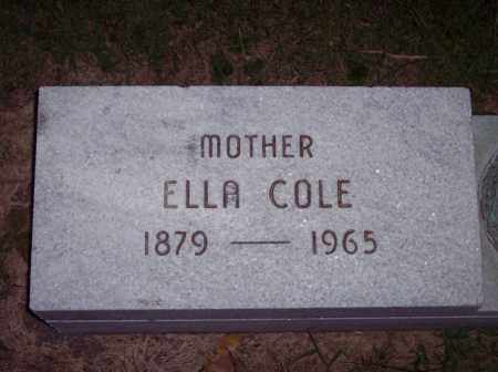 COLE, ELLA - Warren County, Ohio | ELLA COLE - Ohio Gravestone Photos