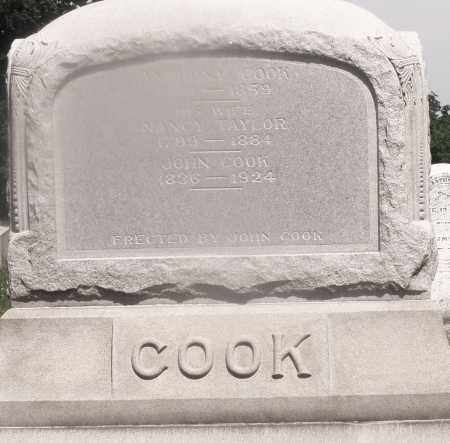 COOK, ANTHONY - Warren County, Ohio | ANTHONY COOK - Ohio Gravestone Photos