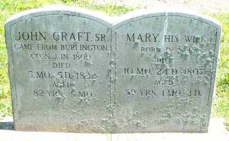 CRAFT, MARY - Warren County, Ohio | MARY CRAFT - Ohio Gravestone Photos