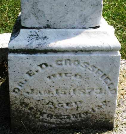 CROSSFIELD, E.D. DR. - Warren County, Ohio | E.D. DR. CROSSFIELD - Ohio Gravestone Photos