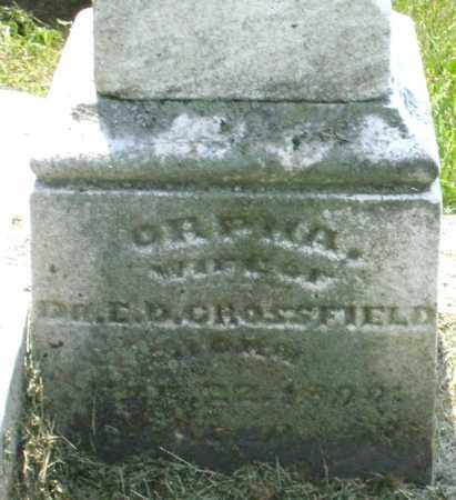 CROSSFIELD, ORPHA - Warren County, Ohio   ORPHA CROSSFIELD - Ohio Gravestone Photos