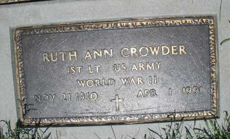 CROWDER, RUTH ANN - Warren County, Ohio | RUTH ANN CROWDER - Ohio Gravestone Photos
