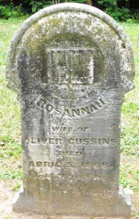 CUSSINS, ROSANNAH - Warren County, Ohio | ROSANNAH CUSSINS - Ohio Gravestone Photos