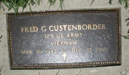 CUSTENBORDER, FRED G. - Warren County, Ohio | FRED G. CUSTENBORDER - Ohio Gravestone Photos
