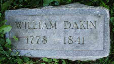 DAKIN, WILLIAM - Warren County, Ohio | WILLIAM DAKIN - Ohio Gravestone Photos