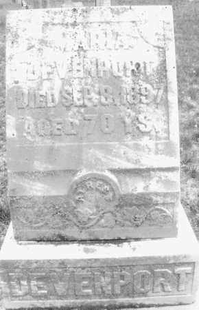 DEVENPORT, MARIA - Warren County, Ohio   MARIA DEVENPORT - Ohio Gravestone Photos