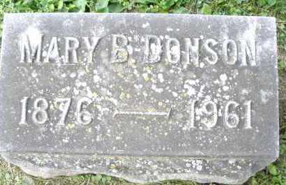 DONSON, MARY B. - Warren County, Ohio | MARY B. DONSON - Ohio Gravestone Photos