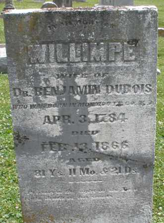 DUBOIS, WILLIMPE - Warren County, Ohio | WILLIMPE DUBOIS - Ohio Gravestone Photos