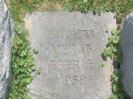 EBERLE, MERAB - Warren County, Ohio | MERAB EBERLE - Ohio Gravestone Photos