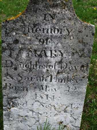 EMLEY, MARY - Warren County, Ohio | MARY EMLEY - Ohio Gravestone Photos