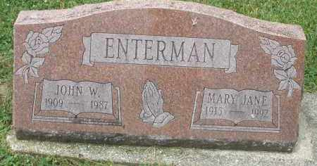 ENTERMAN, MARY JANE - Warren County, Ohio | MARY JANE ENTERMAN - Ohio Gravestone Photos