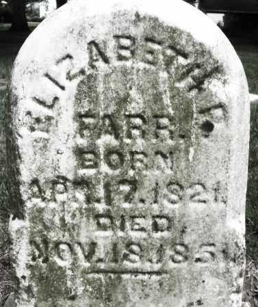 FARR, ELIZABETH - Warren County, Ohio | ELIZABETH FARR - Ohio Gravestone Photos