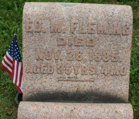 FLEMING, ED. M. - Warren County, Ohio | ED. M. FLEMING - Ohio Gravestone Photos