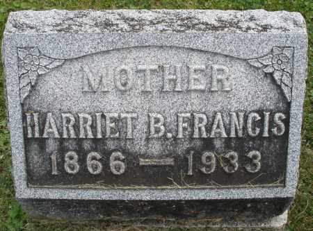 FRANCIS, HARRIET B. - Warren County, Ohio | HARRIET B. FRANCIS - Ohio Gravestone Photos