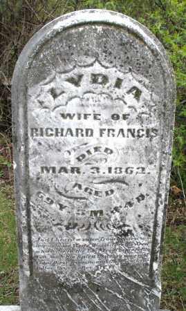 FRANCIS, LYDIA - Warren County, Ohio | LYDIA FRANCIS - Ohio Gravestone Photos