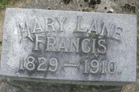 LANE FRANCIS, MARY - Warren County, Ohio | MARY LANE FRANCIS - Ohio Gravestone Photos