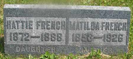 FRENCH, MATILDA - Warren County, Ohio | MATILDA FRENCH - Ohio Gravestone Photos