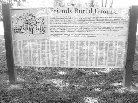 FRIENDS, BURIAL GROUNDS - Warren County, Ohio | BURIAL GROUNDS FRIENDS - Ohio Gravestone Photos