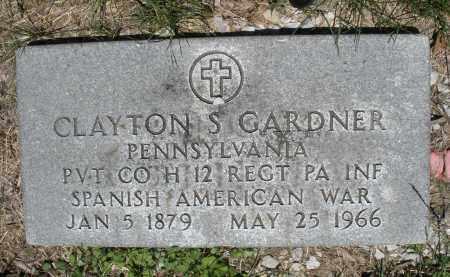 GARDNER, CLAYTON S. - Warren County, Ohio | CLAYTON S. GARDNER - Ohio Gravestone Photos