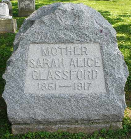 GLASSFORD, SARAH ALICE - Warren County, Ohio | SARAH ALICE GLASSFORD - Ohio Gravestone Photos