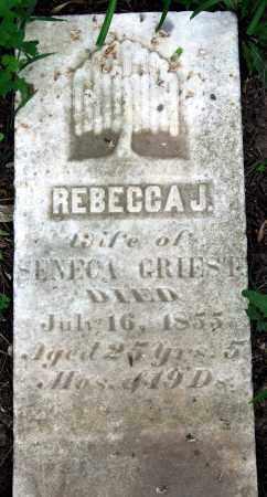 GRIEST, REBECCA J. - Warren County, Ohio | REBECCA J. GRIEST - Ohio Gravestone Photos