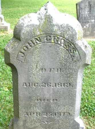 GROSS, JOHN - Warren County, Ohio | JOHN GROSS - Ohio Gravestone Photos