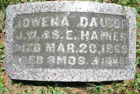 HAINES, ROWENA - Warren County, Ohio | ROWENA HAINES - Ohio Gravestone Photos