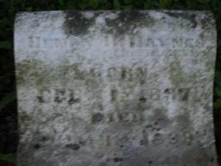 HAYNES, HENRY - Warren County, Ohio   HENRY HAYNES - Ohio Gravestone Photos