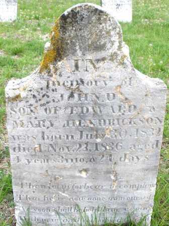 HENDRICKSON, JOHN D. - Warren County, Ohio | JOHN D. HENDRICKSON - Ohio Gravestone Photos