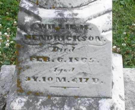 HENDRICKSON, WILLIAM M. - Warren County, Ohio | WILLIAM M. HENDRICKSON - Ohio Gravestone Photos