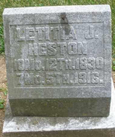 HESTON, LETITIA J. - Warren County, Ohio | LETITIA J. HESTON - Ohio Gravestone Photos
